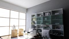 书房布置有三宝:书桌+书柜+座椅