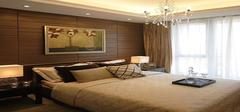 卧室装修背景墙的沉稳化选材