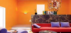 鲜艳色彩带来客厅风水