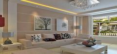 客厅沙发背景墙装饰  光彩绚丽