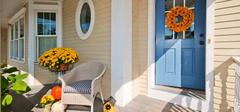 四款阳台门装修图片 怎样隔断客厅与阳台