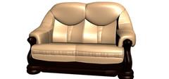 适合放在客厅的3款高档木质双人沙发
