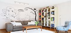 手绘墙设计  让您的家装出与众不同