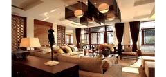 典雅时尚的现代简约风格客厅装修效果图