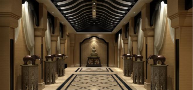 会所装修 不一样的大厅设计装修