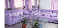 浪漫又贵气的紫色客厅装修