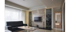 任性大气的客厅电视墙背景效果图