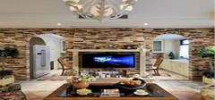 美式乡村风格电视背景墙给你一个不一样的自然生活