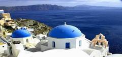 地中海风格  蓝天与白云的结合