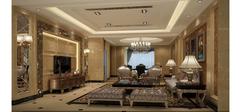 欧式风格装修之客厅墙纸
