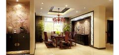 质朴美感的中式风格餐厅装修