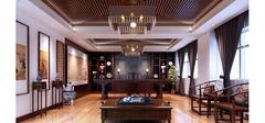 中式风格书房装修之不可忽视的吊顶