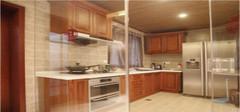 厨房玻璃隔断 方便了开放式厨房