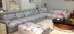 田园风格的沙发搭配,安静惬意!