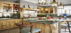 田园风格厨房,自然淳朴的烹饪环境!