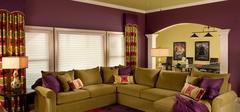 紫色客厅装修,让你的客厅不同凡响!