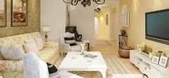 田园风格的客厅装修,自然清新的氛围!