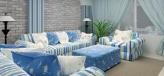 地中海风格窗帘,打造纯净甜美之家!