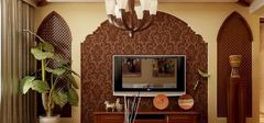 东南亚风格电视背景墙,纯美自然风景!