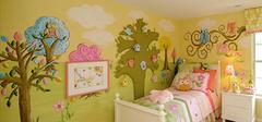 儿童房手绘墙注意事项介绍