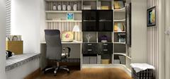 现代简约风格书房,简单实用的布置要点!