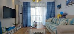 地中海风格窗帘,窗帘打造的纯美之家!