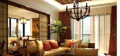 东南亚风格客厅,品味朴实的温柔!