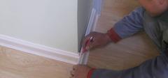 塑料踢脚线安装流程