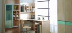 多功能电脑桌+书柜,书房新组合