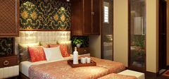 中式风格实木床,营造卧室的古韵!