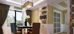 日韩风格的餐厅,家具色彩的搭配!
