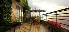 别具一格的阳台花园设计方案