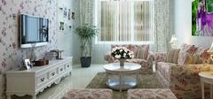 混搭风格装修,田园风的客厅设计!