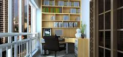 家庭装修阳台改造书房,空间二次利用!