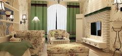 色彩丰富的田园风格家装,温馨三口之家!