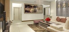 现代简约风格客厅空间,低调多彩的混搭!