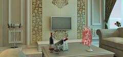 欧式风格的客厅电视背景墙效果图