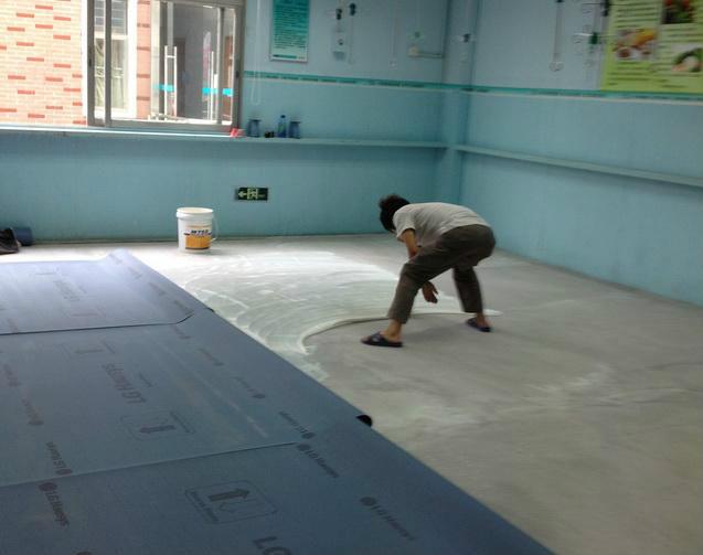 地板胶施工图