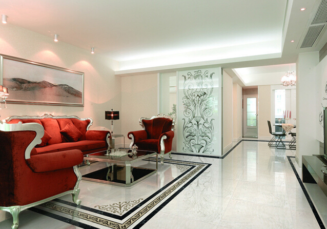 客厅地面装修用瓷砖更胜一筹