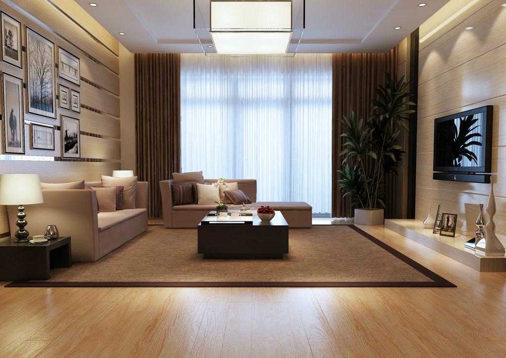 客厅木地板装修图