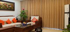 气质中式风格客厅,情迷中式窗帘!