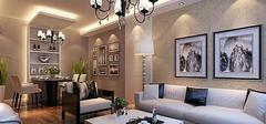 现代简约风格客厅,自由空间完美定格!