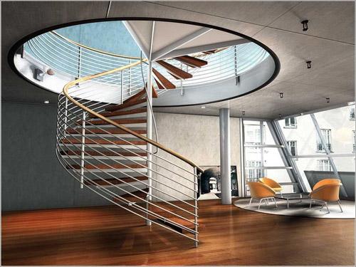 不同类型的楼梯