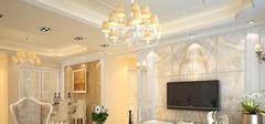 欧式风格家装,客厅吊顶布局方法!