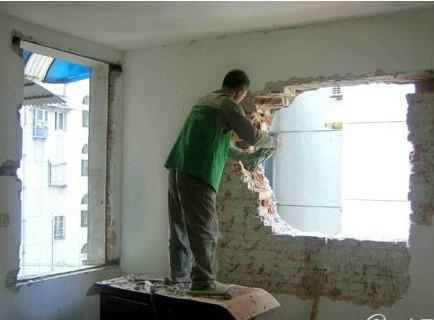 只能拆改非承重墙