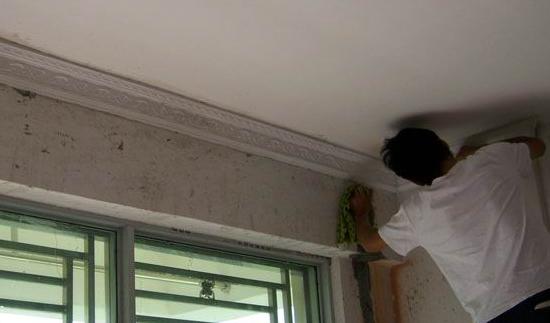 石膏线安装方法
