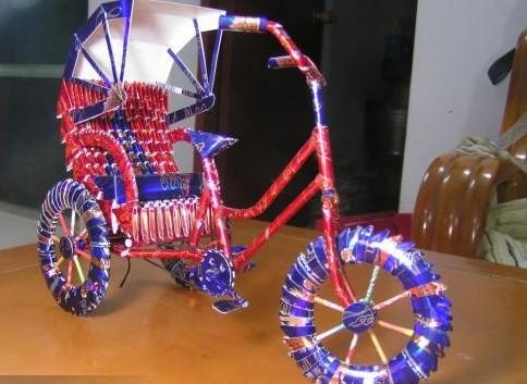 手工改造自行车