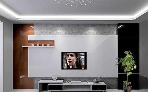 现代简约电视背景墙的造型种类