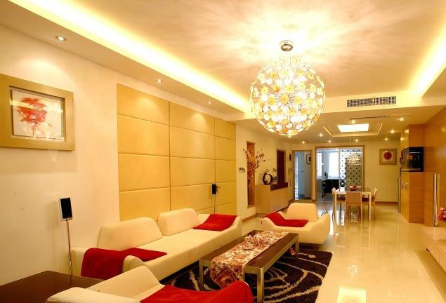 灯具要搭配好客厅高度