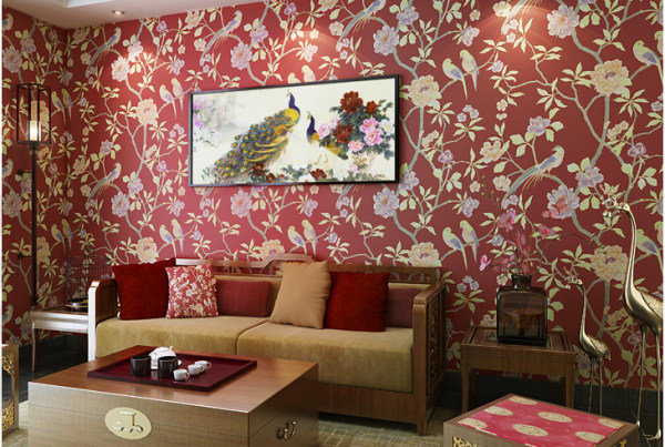 花卉图案墙纸
